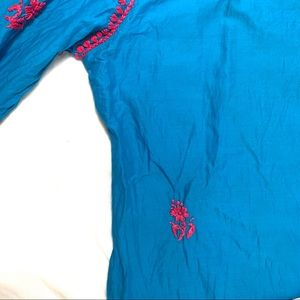 Made in India Dresses - Blue and Pink Tunic Dress Made In India Size 44